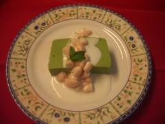 抹茶のババロア、インゲンのク―リ