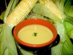 B青森産「嶽きみ」のコーンスープ